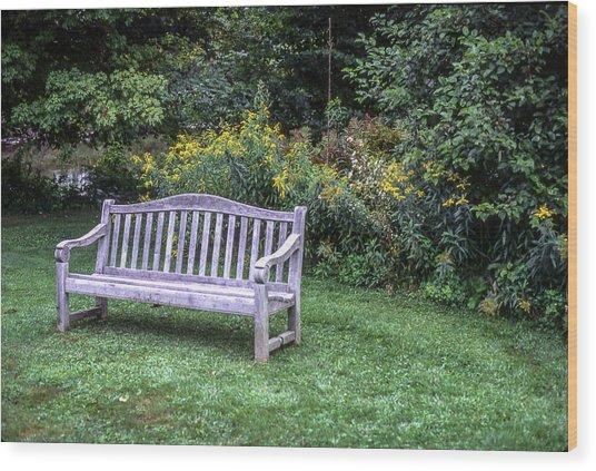 Woodstock Bench Wood Print