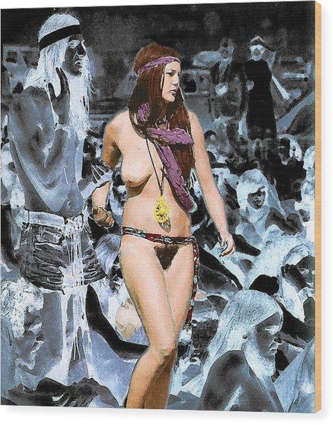 Woodstock Woman Wood Print