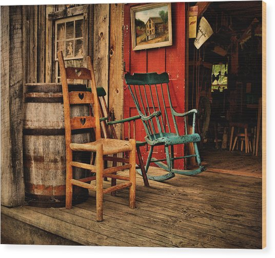 Woodworker's Porch Wood Print