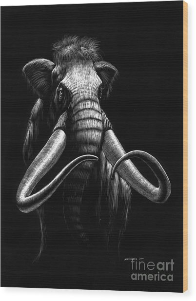 Woolly Mammoth Wood Print