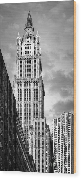 Wood Print featuring the photograph Woolworth Building by Juergen Held