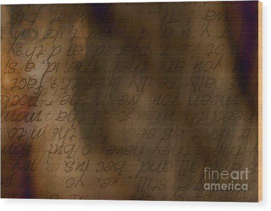 Words Winding Wood Print