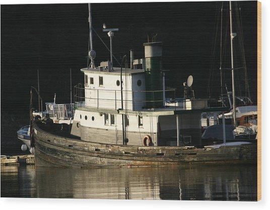 Workboat Wood Print by Doug Johnson