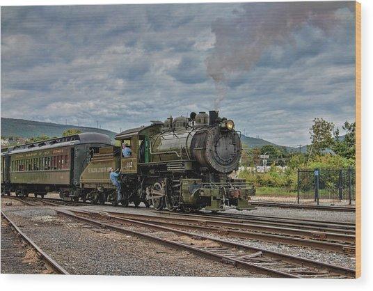 Workhorse At Steamtown Wood Print