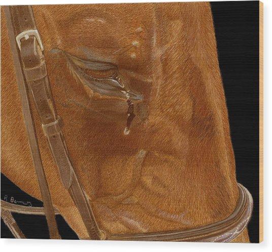 Workhorse Blues - Horse Painting Wood Print