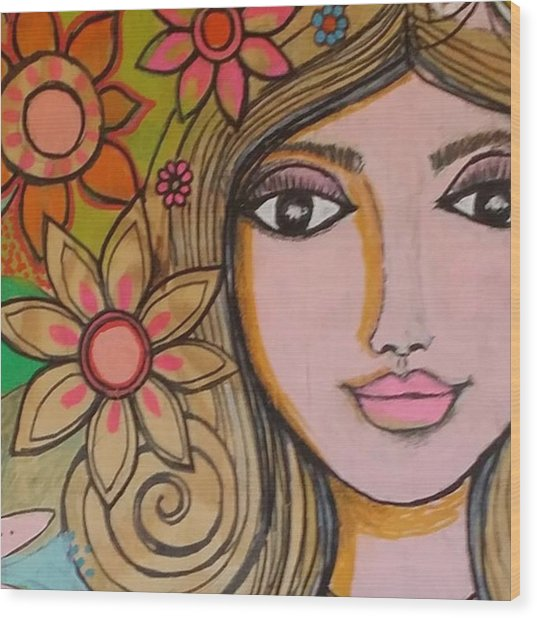 Working On A New #girliegirl On Wood Print