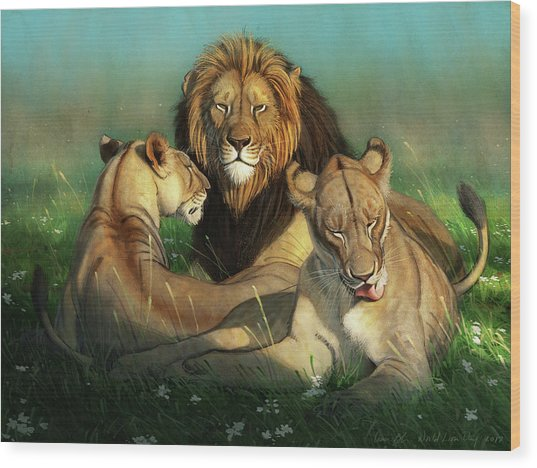 World Lion Day Wood Print