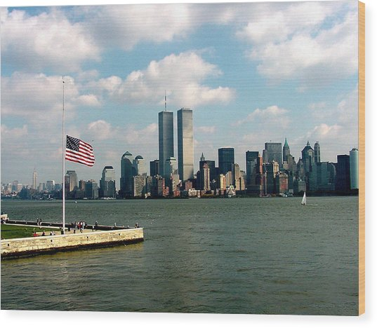 World Trade Center Remembered Wood Print