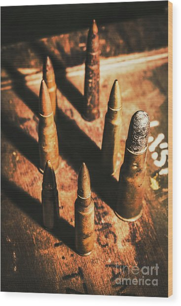 World War II Ammunition Wood Print