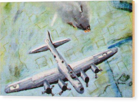 World War II Bombing Raid Wood Print by Stan Hamilton