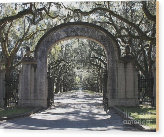 Wormsloe Plantation Gate Wood Print