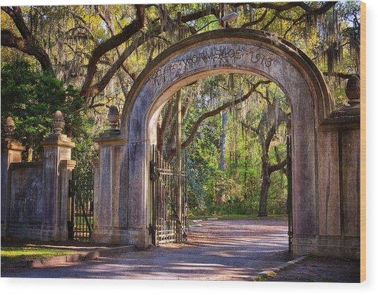 Wormsloe Plantation Gate Wood Print