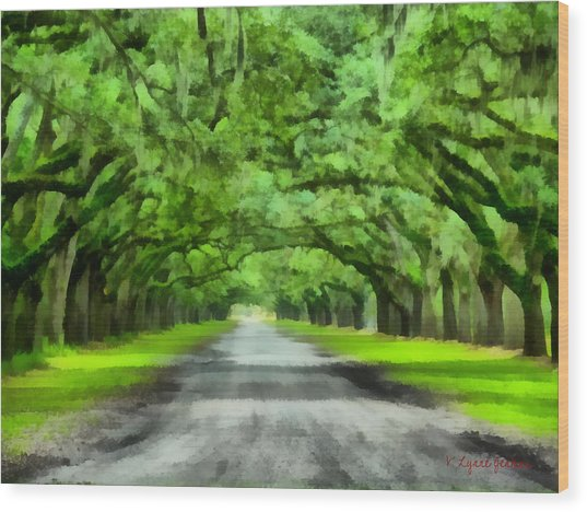 Wormsloe Plantation Wood Print