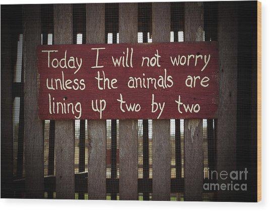 Worry Wood Print