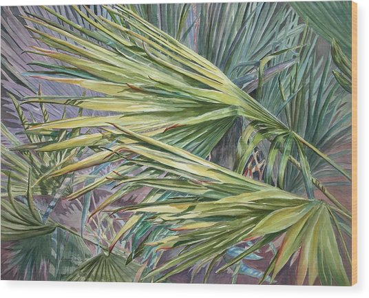 Woven Fronds Wood Print