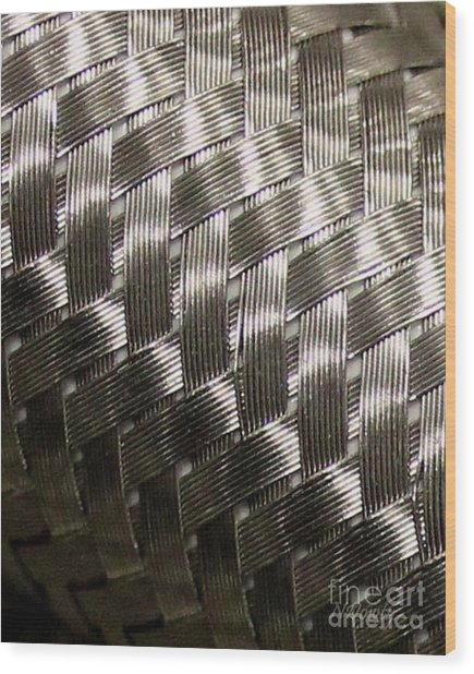 Woven Pipe Wood Print