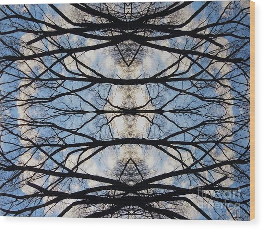 Woven Sky Wood Print