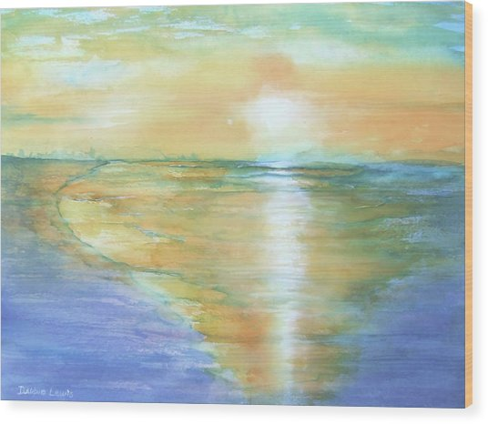 Wow Sunset Wood Print