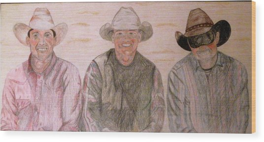 Wranglers From Elkhorn Wood Print