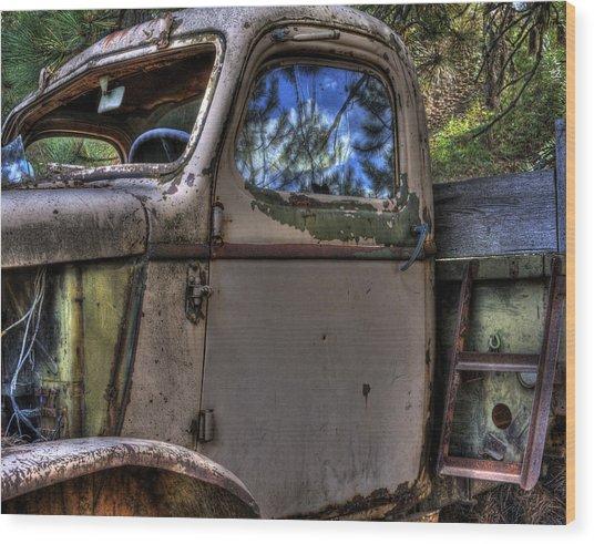 Wrecking Yard Study 4 Wood Print
