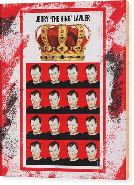 Wrestling Legend Jerry The King Lawler IIi Wood Print
