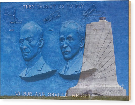 Wright Brothers Memorial Wood Print by Randy Steele