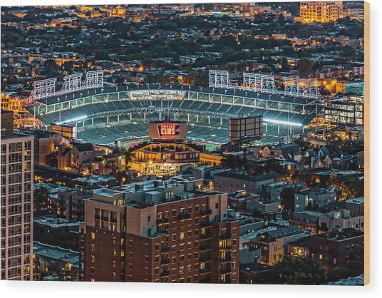 Wrigley Field From Park Place Towers Dsc4678 Wood Print