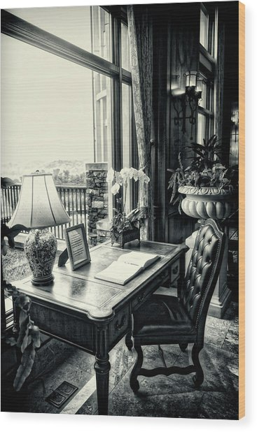 Writing Desk Bw Series 0808 Wood Print