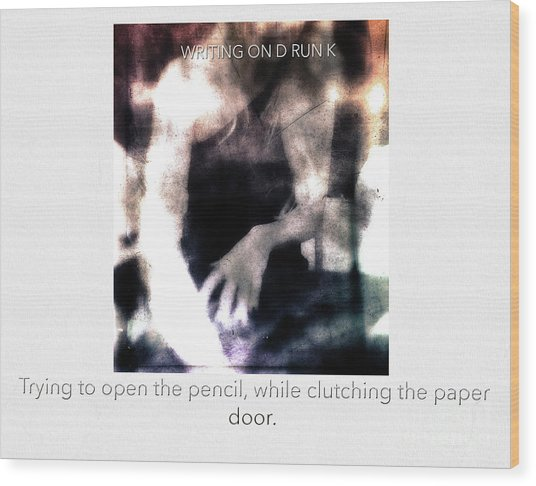 Writing On Drunk  Wood Print by Steven Digman