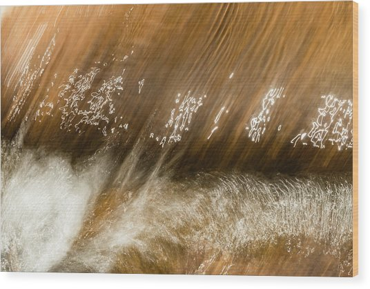 Wood Print featuring the photograph Written In Water by Deborah Hughes