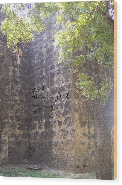 Wrong Turn Wood Print by Diana Gonzalez