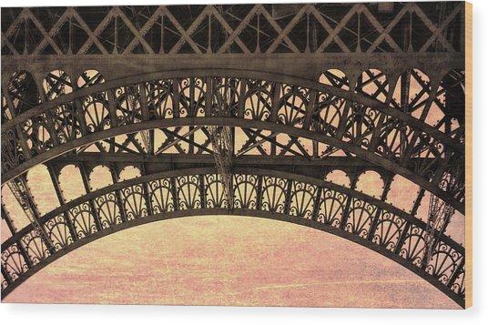 Wrought Iron Art Wood Print by JAMART Photography