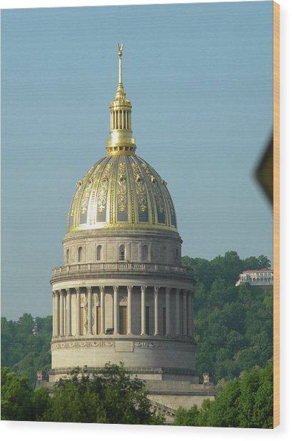 Wv State Capital Building  Wood Print