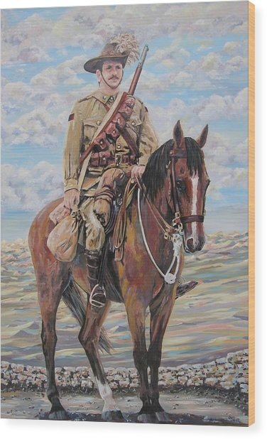 Ww1 Lighthorse At Beersheba Wood Print by Leonie Bell