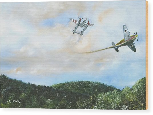 Wwii Dogfight Wood Print