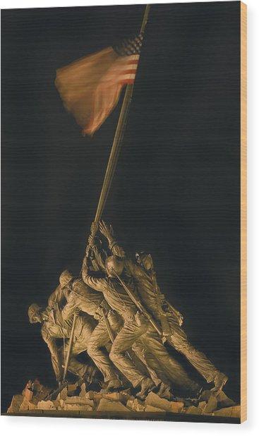 Iwo Jima Remembrance Wood Print
