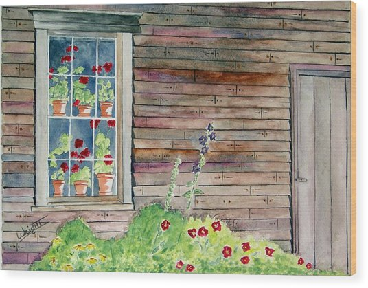 Wyeth House In Tempera Paint Wood Print by Larry Wright