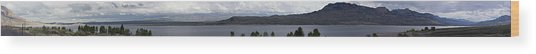 Wyoming Mountain Panorama Wood Print by Gregory Jeffries