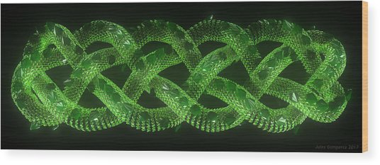 Wyrm - The Celtic Serpent Wood Print