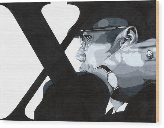 X Wood Print by Lamark Crosby