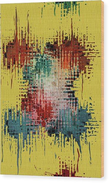 X Marks The Spot Wood Print