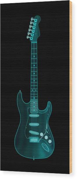 X-ray Electric Guitar Wood Print