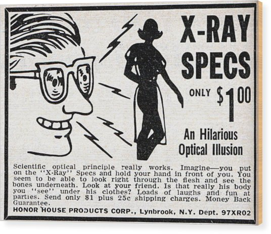 X-ray Specs $1.00 Wood Print