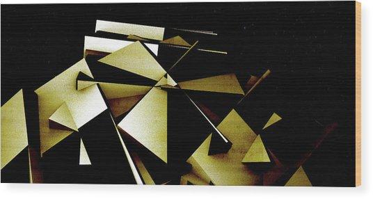 X Robot Wood Print by David BERNARD