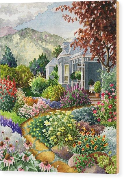 Xeriscape Garden Wood Print