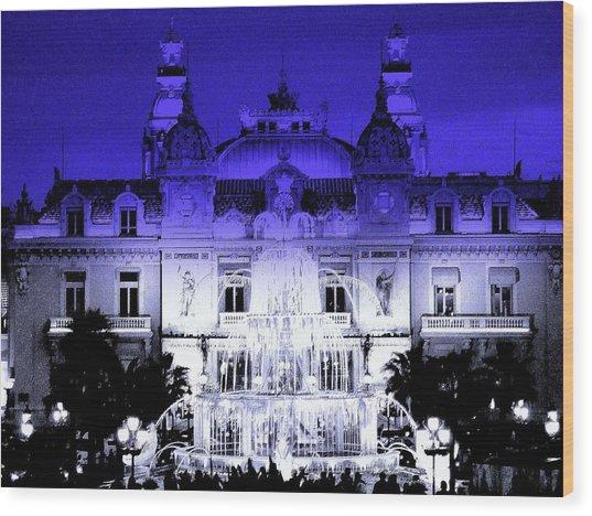 Xmas In Monaco Wood Print