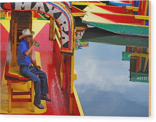 Wood Print featuring the photograph Xochimilco by Skip Hunt