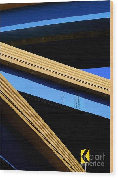Kandinsky's Lines Wood Print