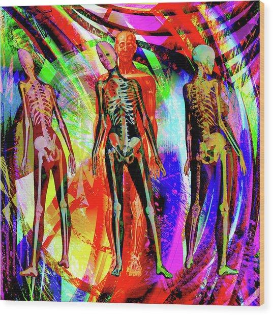 Bones Wood Print by Joseph Mosley