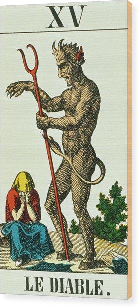 Xv The Devil   Tarot Card Wood Print